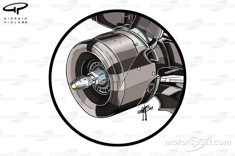 Mercedes F1 AMG W09 rear rim