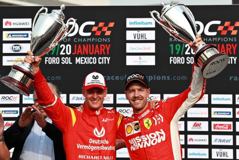 Обладатели второго места в Кубке наций, команда Гермнаии: Себастьян Феттель и Мик Шумахер