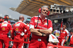 Maurizio Arrivabene, Ferrari Team Principal on the drivers parade