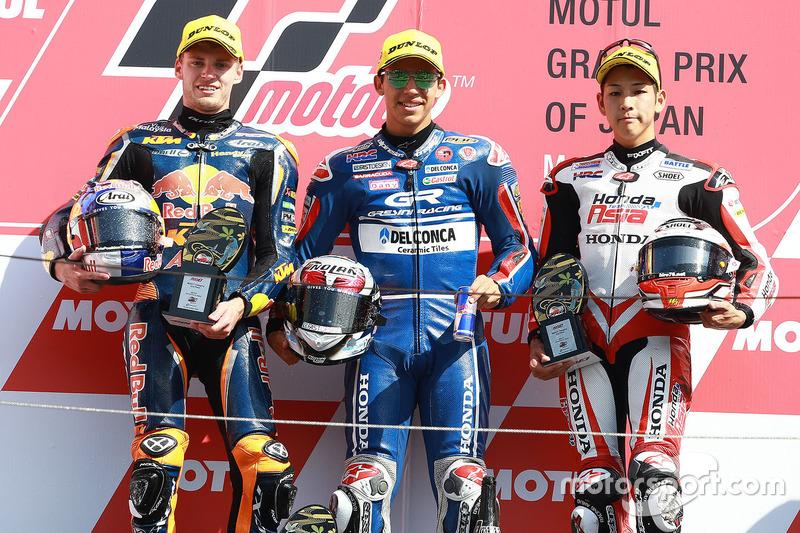 Podium: 1. Enea Bastianini, Gresini Racing Team Moto3; 2. Brad Binder, Red Bull KTM Ajo; 3. Hiroki Ono, Honda Team Asia