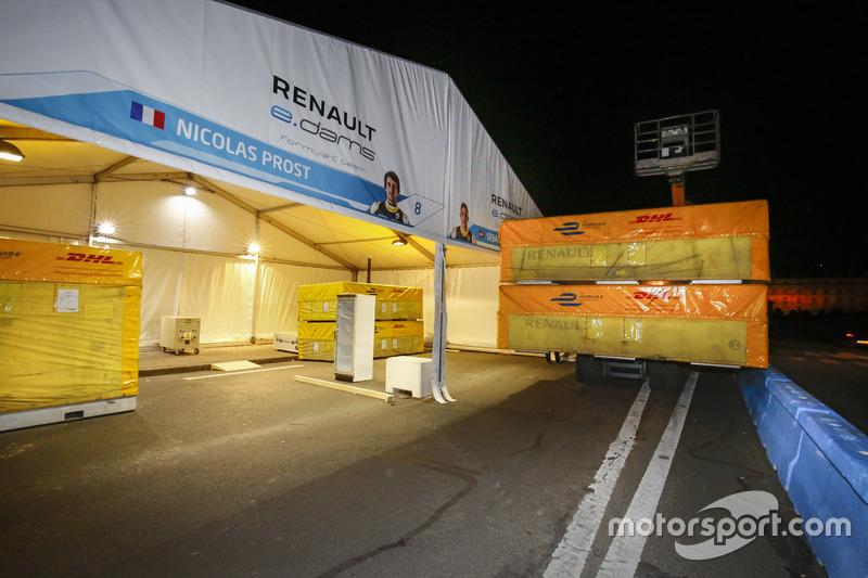 Il box e.Dams Renault