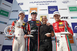 Podium: Race winner Joel Eriksson, Motopark Dallara F317 - Volkswagen, second place Callum Ilott, Prema Powerteam, Dallara F317 - Mercedes-Benz, third place Guan Yu Zhou, Prema Powerteam, Dallara F317 - Mercedes-Benz