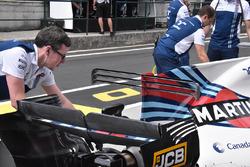 Williams FW40 rear bodywork detail