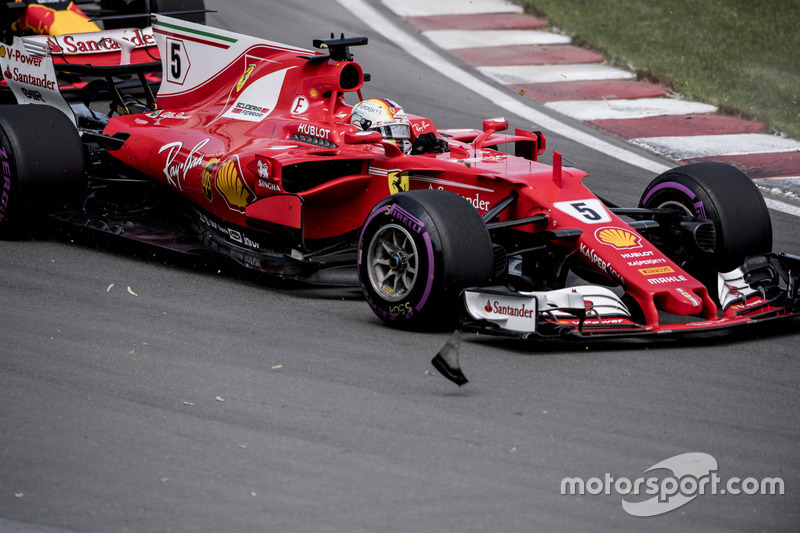 Kollision: Sebastian Vettel, Ferrari SF70H