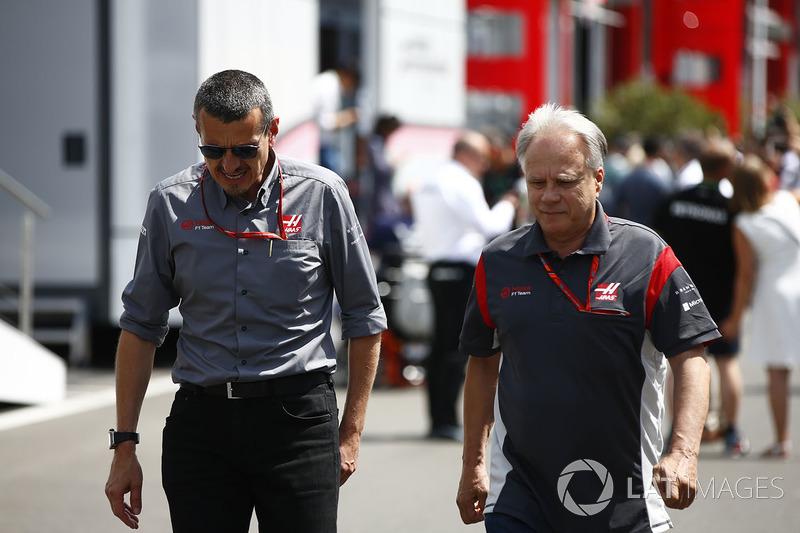 Керівник Haas F1 Team Гюнтер Штафнер, завсновни і власник Haas F1 Team Джин Хаас