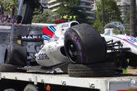 El coche chocado de Lance Stroll, Williams FW40