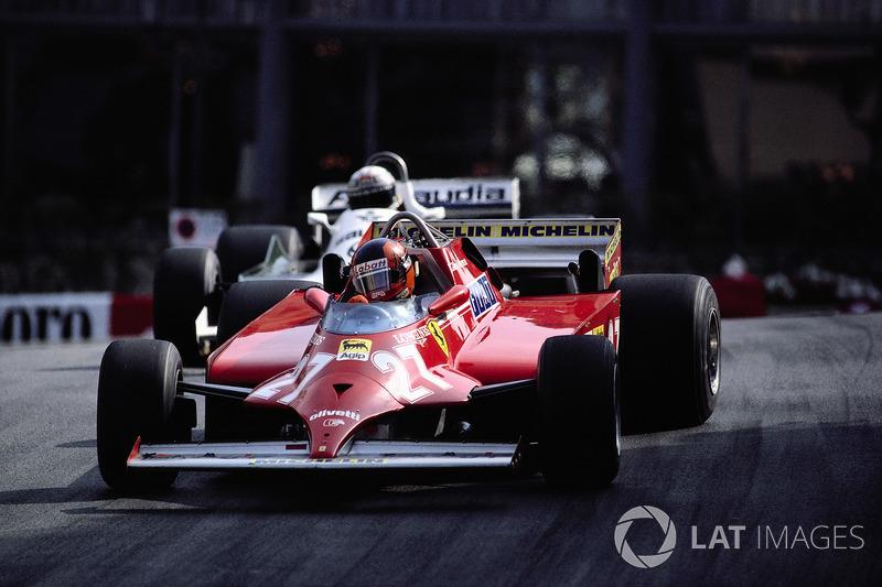 1981年モナコGP:残り4周、勝利をかけて戦うジル・ビルヌーブ(フェラーリ)とアラン・ジョーンズ(ウイリアムズ)