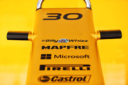 Renault Sport F1 Team RS17 with #BillyWhizz signage