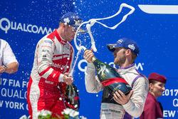 Podium: winner Sam Bird, DS Virgin Racing, second place Felix Rosenqvist, Mahindra Racing