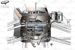 McLaren MP4/28 pull rod front suspension