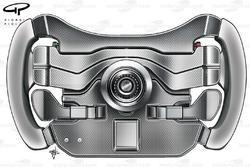 McLaren MP4-23 2008 steering wheel rear view