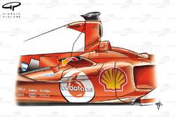 Ferrari F2004 sidepod chimnies