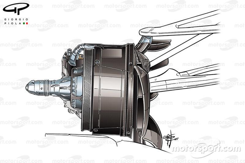 Mercedes F1 W08 brake duct, Canada