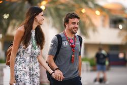Fernando Alonso, McLaren with girlfriend Linda Morselli