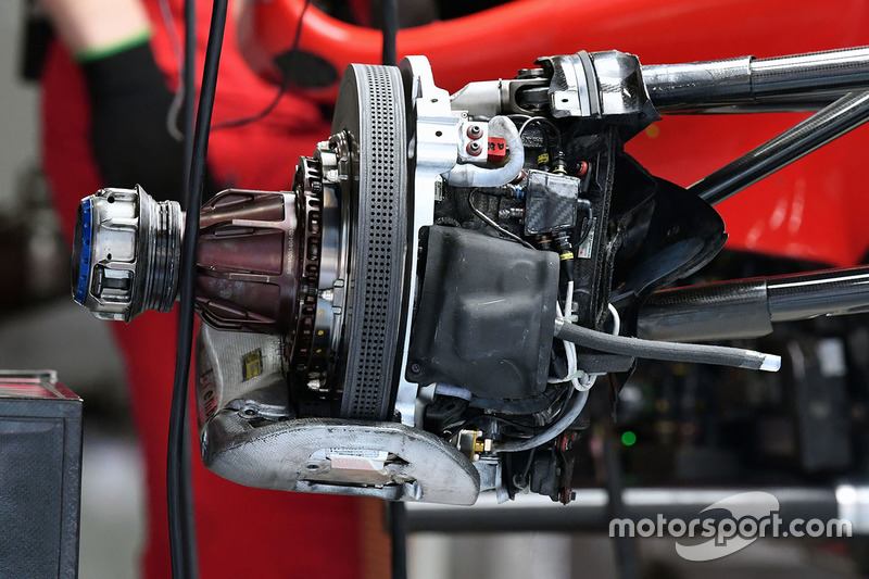 Ferrari SF70H front brake detail