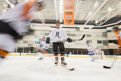 Valtteri Bottas, Mercedes AMG F1 plays ice hockey
