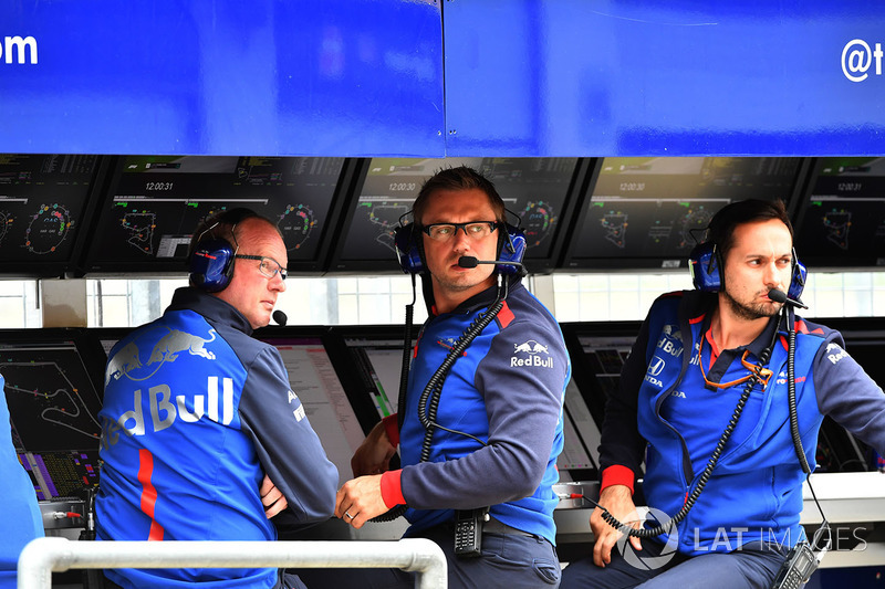 Scuderia Toro Rosso pit wall gantry