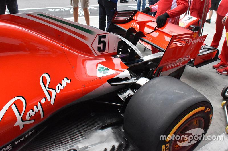Ferrari SF71H achterzijde