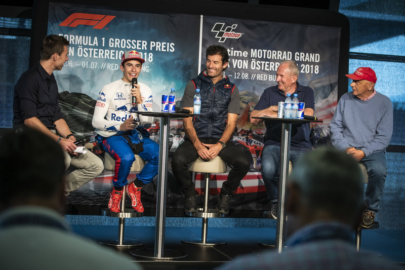 Marc Marquez, Mark Webber, Dr. Helmut Marko, dan Niki Lauda