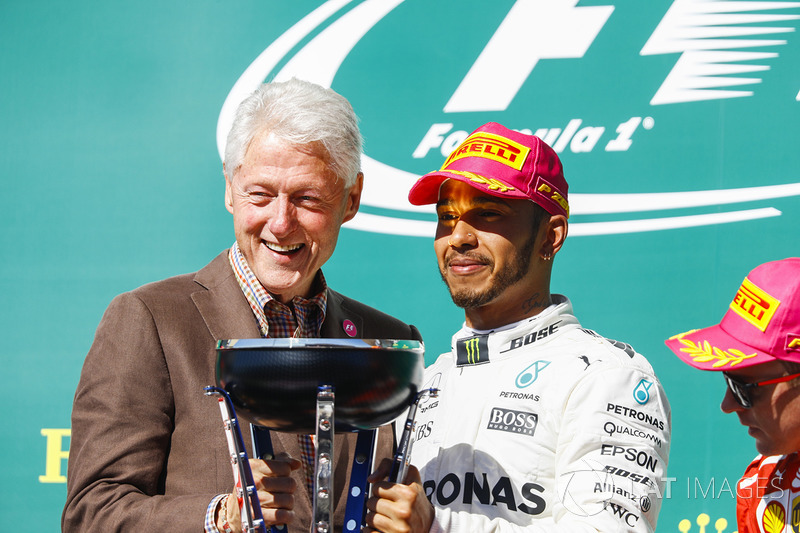 Льюіс Хемілтон, Mercedes AMG F1, президент США Білл Клінтон
