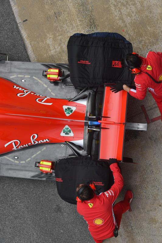 Ferrari SF-71H rear wing and rear floor