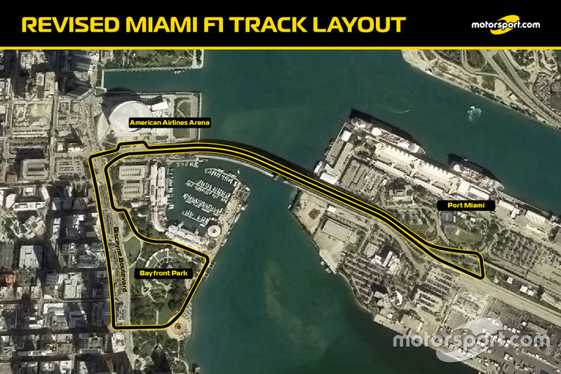 Revised Miami F1 track layout