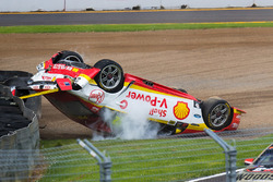 Fabian Coulthard, Team Penske Ford crash