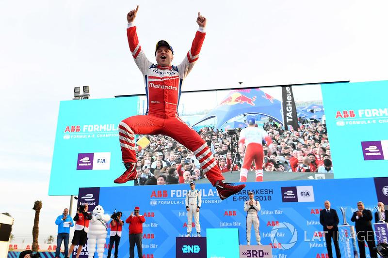 Podio: Ganador de la carrera Felix Rosenqvist, Mahindra Racing