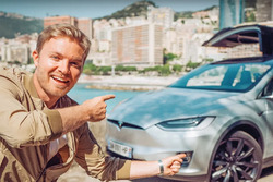 InsideEVs Nico Rosberg drives the Tesla Model X