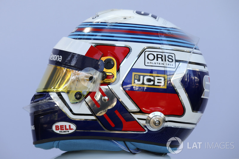 Casco de Sergey Sirotkin, Williams