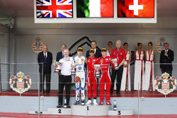 Podium: Race winner Antonio Fuoco, Charouz Racing System, second place Lando Norris, Carlin, third place Louis Deletraz, Charouz Racing System