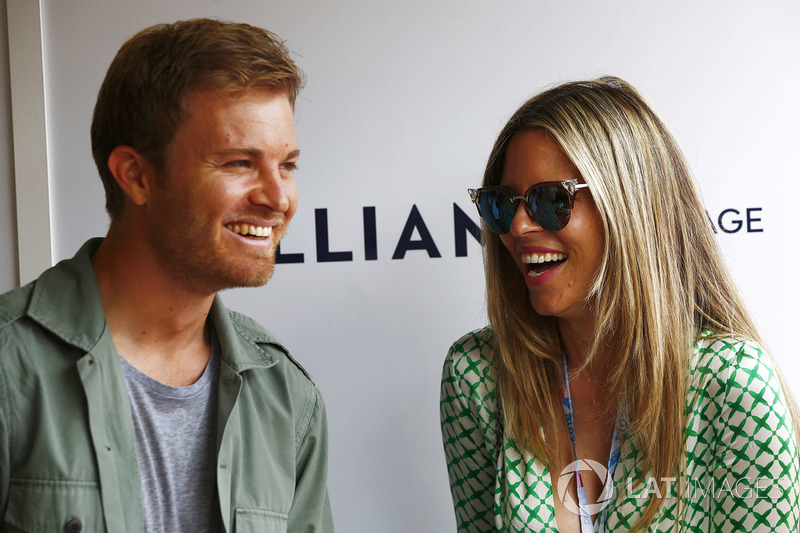 Nico Rosberg and his wife Vivian Sibold