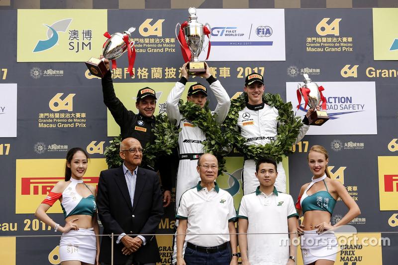 Podium: Race winner Edoardo Mortara, Mercedes-AMG Team Driving Academy, Mercedes - AMG GT3, second p