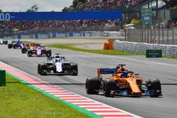 Fernando Alonso, McLaren MCL33 au départ de la course