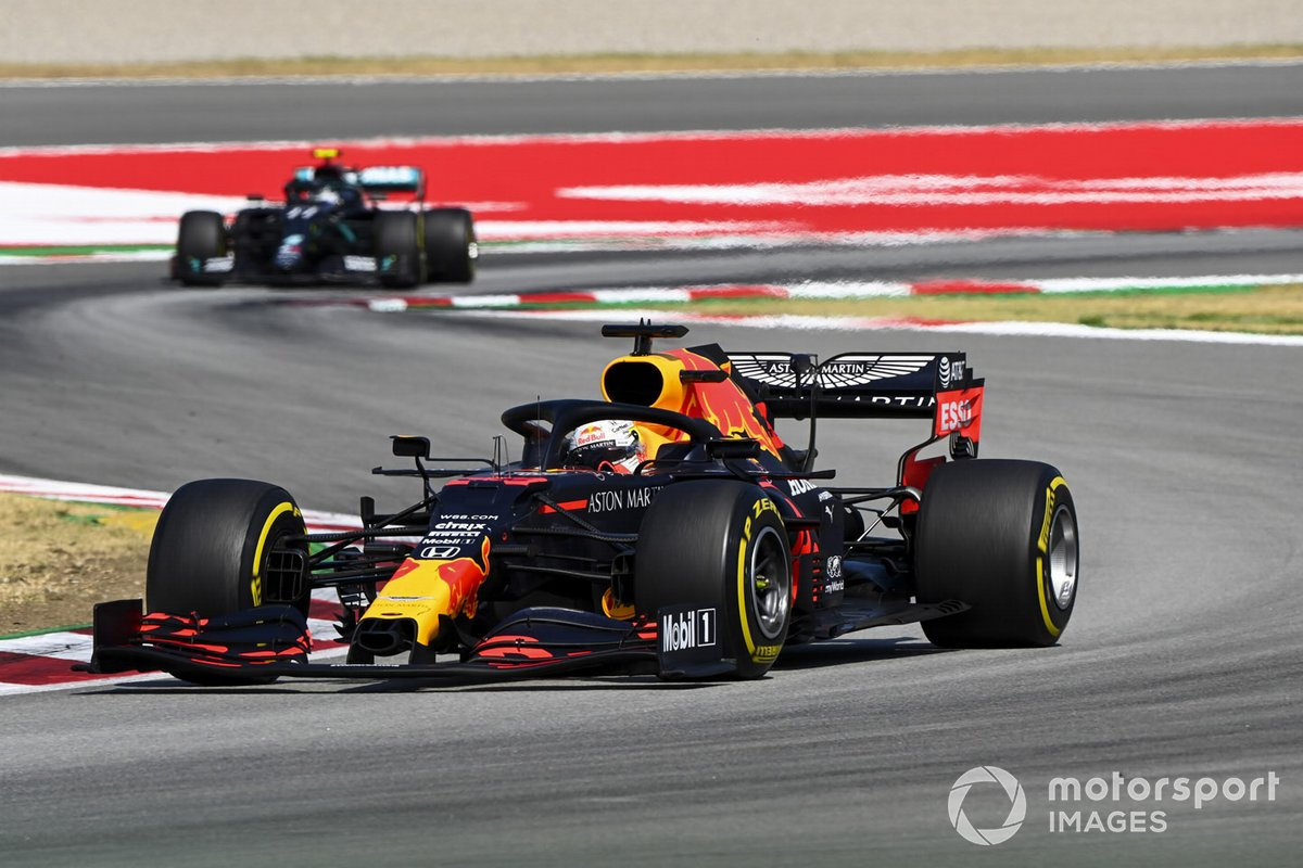 Max Verstappen, Red Bull Racing RB16, Valtteri Bottas, Mercedes F1 W11 EQ Performance