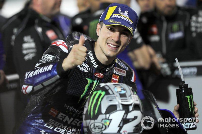 Ganador de la pole Maverick Viñales, Yamaha Factory Racing