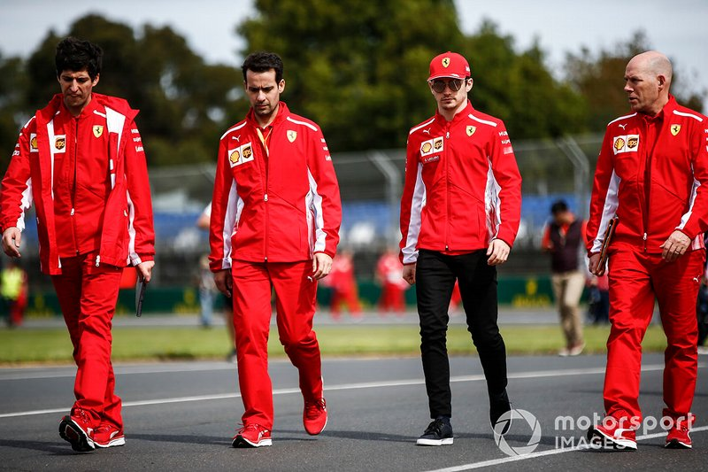 Charles Leclerc, Ferrari, with Jock Clear, Race Engineer, Ferrari