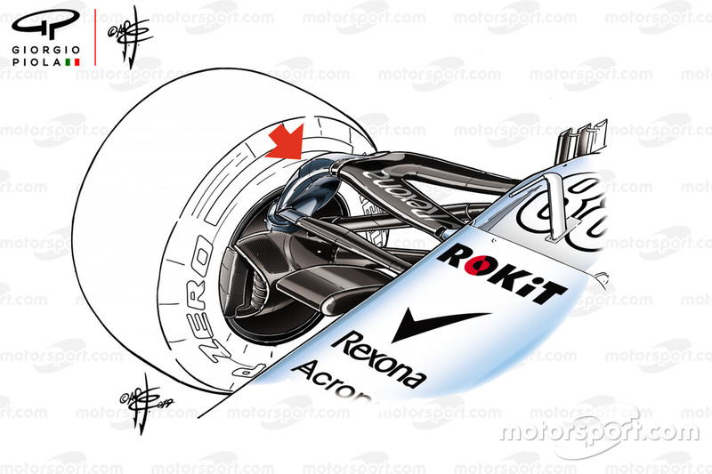Williams FW42 suspension detail