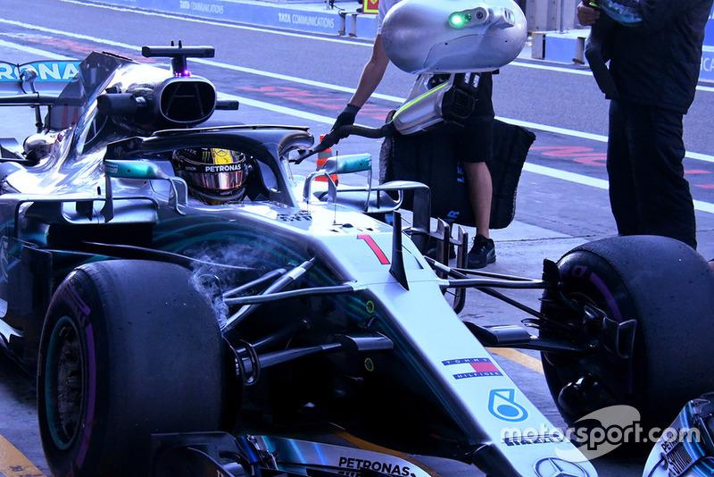 Lewis Hamilton, Mercedes AMG F1, detalle técnico