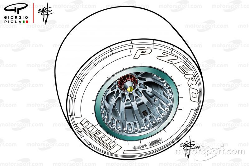 La rueda del Mercedes F1 AMG W09