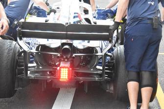Vue détaillée de l'arrière de la Williams FW41
