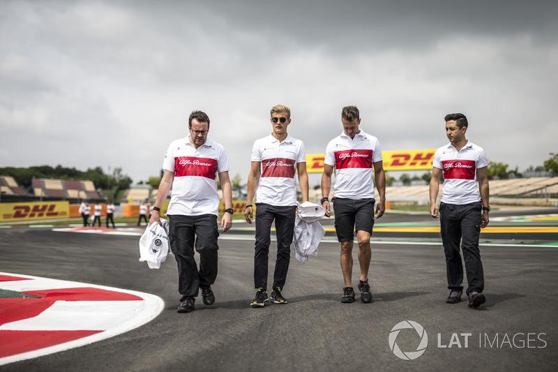 Marcus Ericsson, Sauber camina por la pista