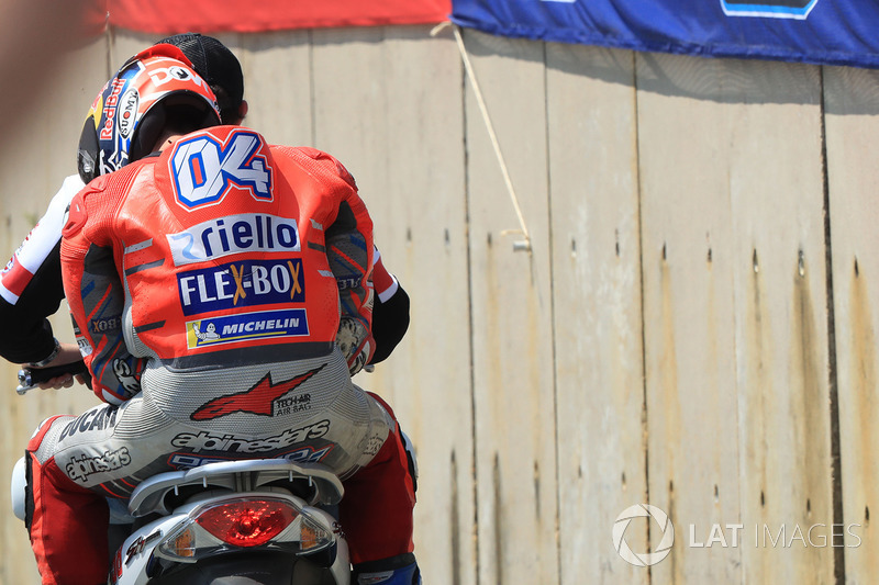 Andrea Dovizioso, Ducati Team, after crash