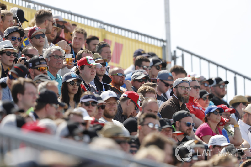 Crowds on the grand stands