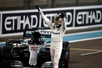 Lewis Hamilton, Mercedes-Benz F1 W08  celebrates in parc ferme