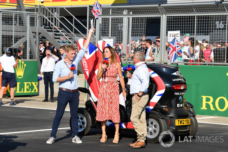 Simon Lazenby, Sky TV, Natalie Pinkham, Sky TV e Johnny Herbert, Sky TV