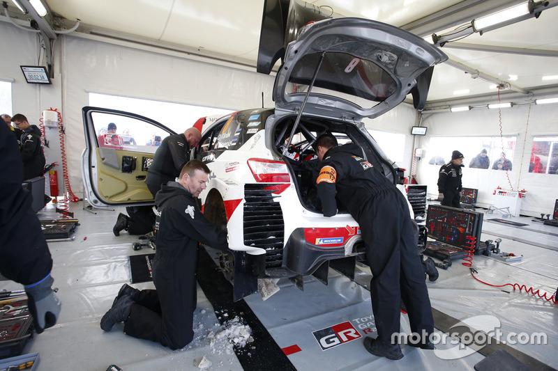Toyota Gazoo Racing team area