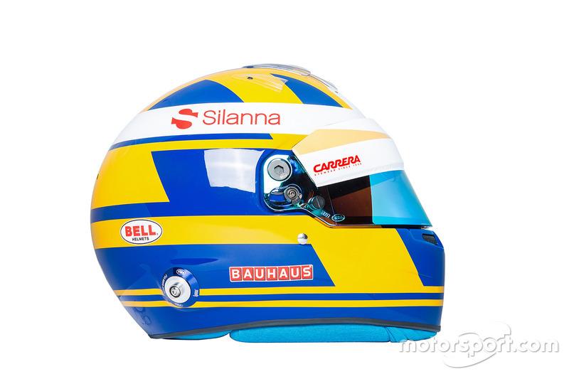Il casco di Marcus Ericsson, Sauber
