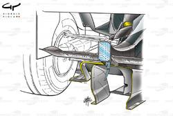 McLaren MP4-18 2003 diffuser detail