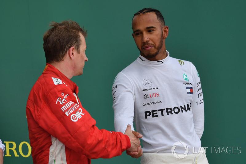 Kimi Raikkonen, Ferrari, Lewis Hamilton, Mercedes-AMG F1